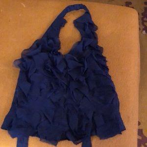 Royal blue halter top